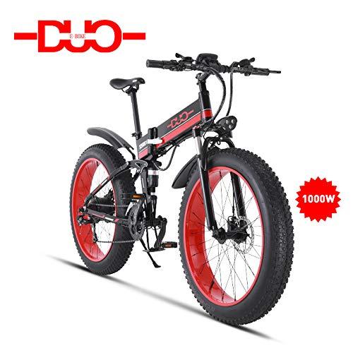 Vélo de montagne électrique GUNAI 26 pouces E-Bike 21-Speed système de transmission avec lampe de poche avec une batterie au lithium amovible 1000W 48V vélos vélo électrique