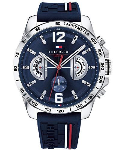 828a8cca90cb Tommy Hilfiger Reloj Multiesfera para Hombre de Cuarzo con Correa en  Silicona 1791476