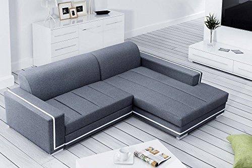 Don Baraton anticrisisis.net Canapé-lit 3 places avec chaise longue - Caicos (Gris, chaise longue droite)
