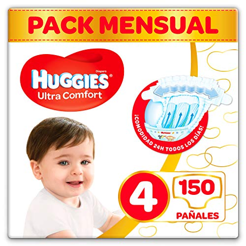 Couches Huggies Ultra Confort Taille 4 (7-18 kg) - 150 couches