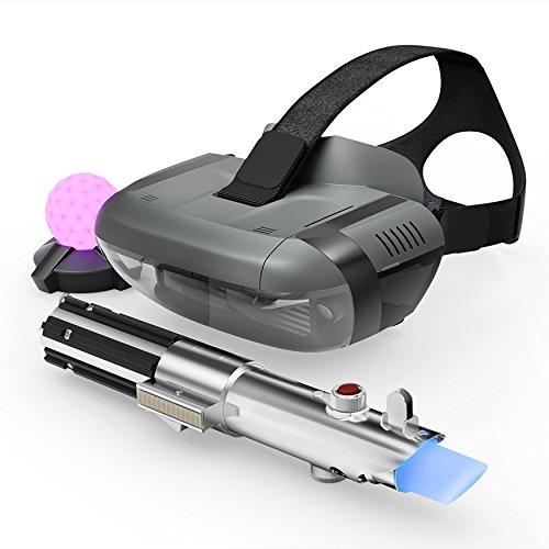 Lenovo - Jedi Challenges - Pack Réalité Virtuelle (VR) avec lunettes de réalité augmentée Mirage de Lenovo + Commande Laser Sword + Balise de mouvement