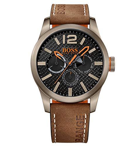 Montre-bracelet Hugo Boss Orange Hommes Analogique, 1513240, Marron/Noir