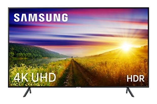 Samsung 49NU7105 - 49' 4K UHD 4K UHD HDR Smart TV (écran mince, Quad-Core, 3 HDMI, 2 USB), couleur noir (noir de carbone)