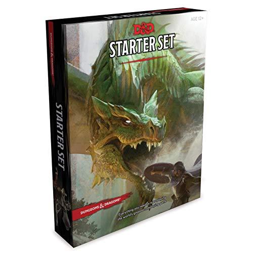 Coffret de départ Donjons et Dragons (six dés, cinq personnages D&d prêts à jouer avec des feuilles de personnage, un livre de règles et une aventure) : Jeu de rôle fantastique