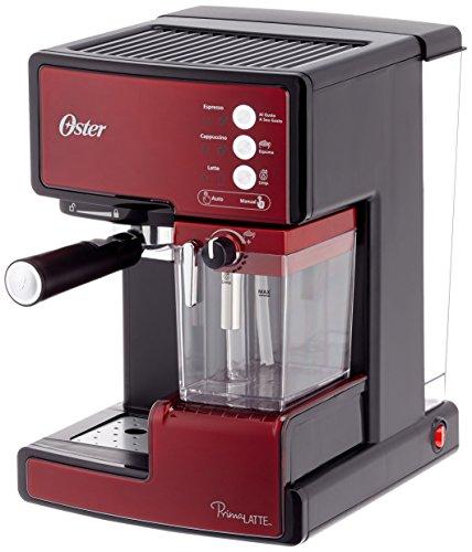 Oster Bvstem 6601 R Cafetière Expresso avec traitement du lait, 1238 W, 33 litres, acier inoxydable