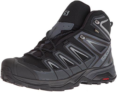 Salomon X Ultra 3 Ultra 3 Mid GTX, Chaussures de randonnée pour homme, noir (Encre noire/Inde / Monument), 44 EU