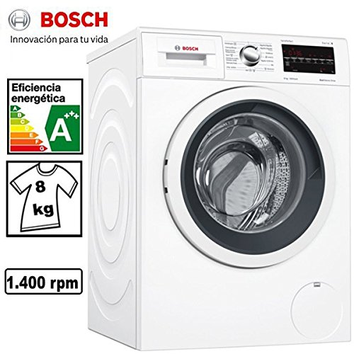 Bosch 6 Series WAT28469ES Stand Alone Front Load 8kg 1400RPM A++++-30% Black, Color White - Washer (Stand Alone, Front Load, Black, Color White, Left, LED, Stainless Steel)