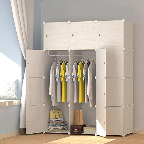 PREMAG Armoire portative en bois à motifs, armoire combinée, armoire modulaire, armoire à économie d'espace, organiseur de rangement idéal pour livres, jouets, serviettes (12-Cube)