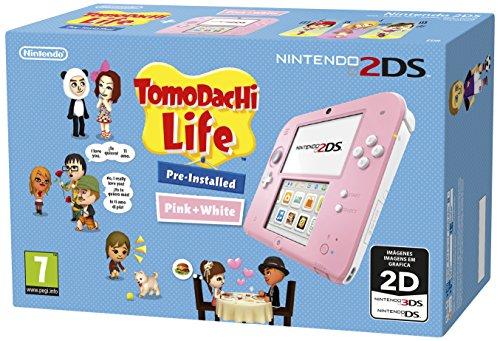 Nintendo 2DS - Console, rose + Tomodachi Life (préinstallée)