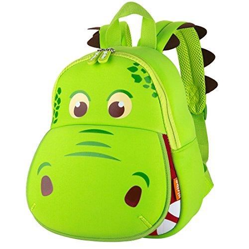 Sac à dos Yisibo pour les enfants d'âge préscolaire pour les tout-petits et les filles Sac à dos 3D Sac à dos pour animaux Sac à dos pour enfants Sac à dos pour enfants Linda Nursery Backpack (Big Mouth Dinosaur-Green)