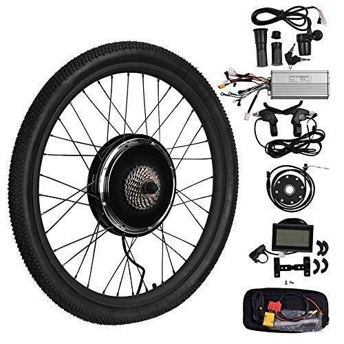 Vogvigo 26' 48V 48V 1500W Moyeu de roue arrière Kit de conversion pour motos électriques de bricolage avec écran LCD (48V 1500W)