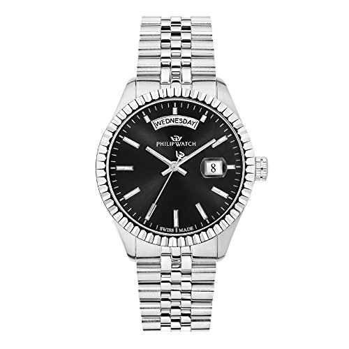 PHILIP WATCH Montre à quartz analogique pour homme avec bracelet en acier inoxydable R825353597033