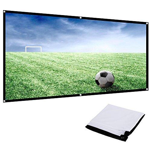 Écran de projecteur portatif et pliable de 100 pi 16 po monté au mur ou au plafond, portatif et pliable de Rovtop : 9