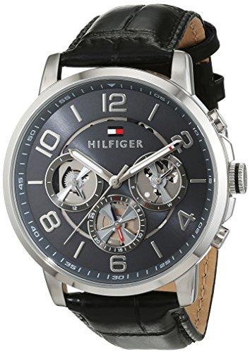 Tommy Hilfiger 1791289 montre homme, mécanisme à quartz, design cadran multiple, bracelet cuir.