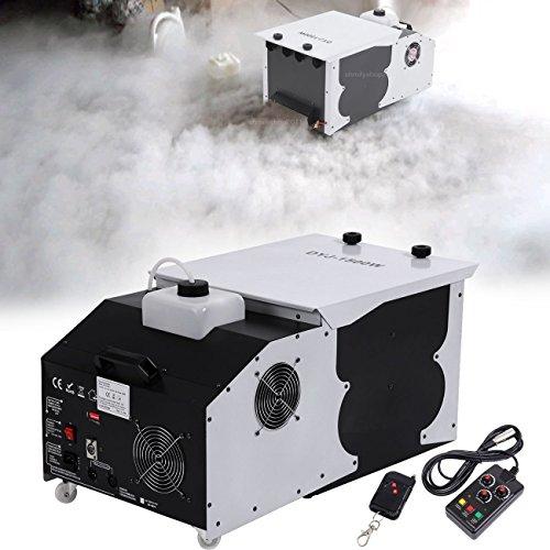 Ridgeyard 2.5L 1500W Machine à fumée Effet glace carbonique Émetteur au sol à faible émission Machine à fumée avec télécommande pour Wedding Dance DJ Stage Party Show