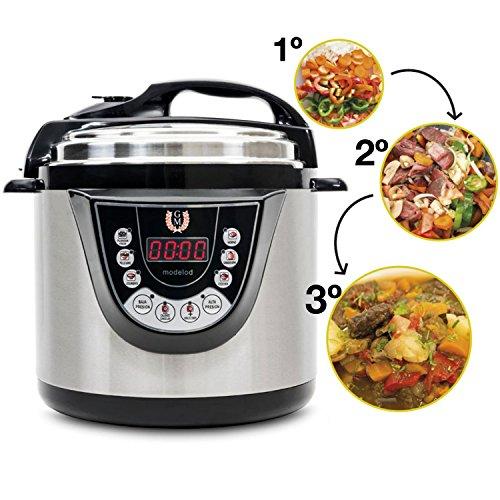 Cecotec Ollas GM Modèle D - Robot de cuisine programmable multifonction, 90 Kpa, 9 menus, 1000W