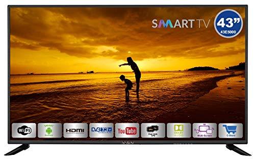 HKC Yasin 43E5000 : 109 cm (43 pouces) Smart-TV (Full HD, Triple Tuner, Ci+, Media Player via USB 2.0)