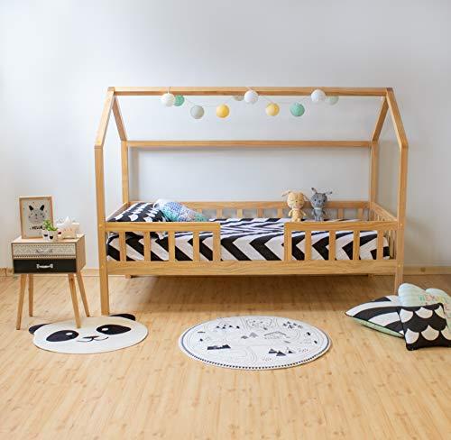 Suarez Cama Infantil Montessori casita con balustrade (Pino)