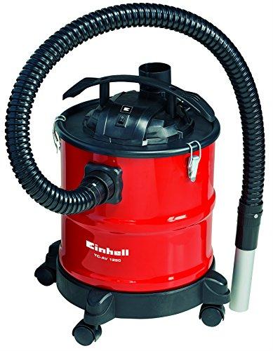 Einhell TC-AV 1250 1250 1250W 20L Noir, Rouge - Frêne aspirateur (20 L, sans sac, noir, rouge, 1,2 m, métal, 3,6 cm)