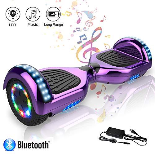 Scooter électrique Auto Balance Auto Hoverboard 6,5 pouces avec Bluetooth et LED E-Skateboard