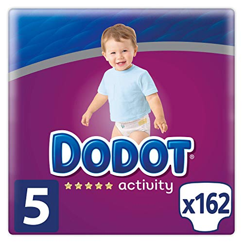 Couches Dodot Activity Taille 5, 162 Couches, 11-16 kg