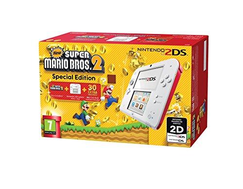 Nintendo 2DS - Console, Color Red + New Super Mario Bros 2 (préinstallé)