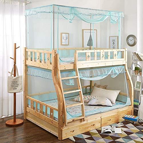 Lit à moustiques SCJ, lit à moustiques, trapèze à deux portes dentelle de trapèze, dentelle de moustique, tissu d'acier inoxydable, vert aqua