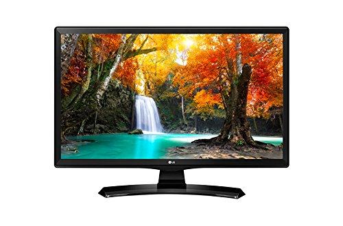 LG 24MT49S-PZ - Moniteur TV 24' (60 cm, Smart TV HD LED, 1366 x 768 pixels, mode cinéma, mode jeu), couleur noire brillante