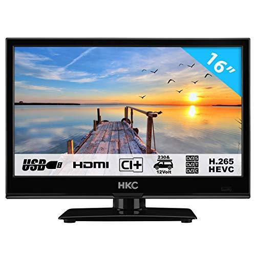 HKC 16M4 : Téléviseur DEL de 16 po (39,6 cm) (compatible HD, triple tuner, Ci+, lecteur multimédia USB 2.0, chargeur automatique 12 V)