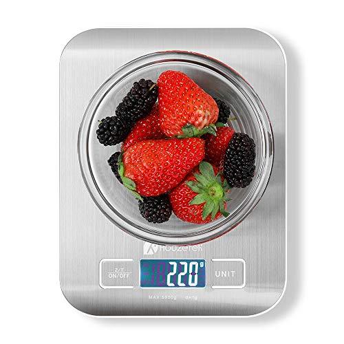 Balance de cuisine numérique, Balance de cuisine Houzetek avec grand écran LCD, Balance de cuisine numérique de précision, Balance multifonctionnelle, Poids cuisine 1g(0.1 oz)-5kg