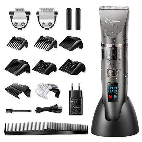 HATTEKER Tondeuse à cheveux pour hommes HATTEKER Tondeuse à cheveux Tondeuse à cheveux Barbier électrique Barbier électrique Tondeuse à barbe de précision Waterproof