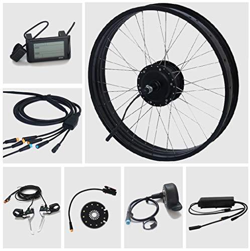 TZIPower Electric Bicycle Conversion Kit Fat Bike, 26 pouces x 4 pouces, roue arrière 48 V 500 W 500 W 500 W, Pedelec Electric Bicycle Kit