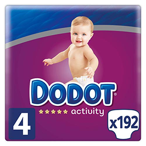 Couches Dodot Activity Taille 4, 192 Couches, 9-14 kg