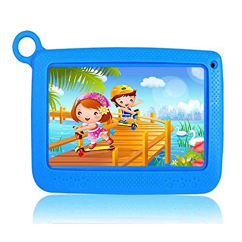Tablette pour enfants 7 pouces WiFi Android 6.0 Quad Core 2GB RAM RAM 32 GB ROM Bluetooth HD 1024x600, Google Play et contrôle parental pré-installés - Bleu