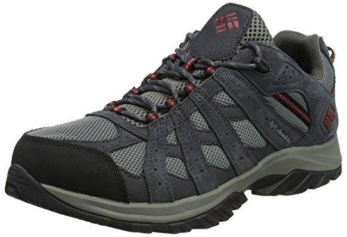 Columbia Canyon Point Waterproof, Chaussures de randonnée, Imperméable, Imperméable, Hommes, Imperméable, Gris (Anthracite, Elément rouge), 42.5 EU