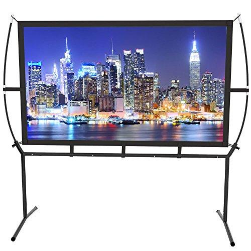 Écran Home Cinema 233X139Cm (100 ''') Écran de projection mobile Écran 16 : 9 Installation et utilisation faciles Convient aux écrans de projection Home Cinema & Outdoor