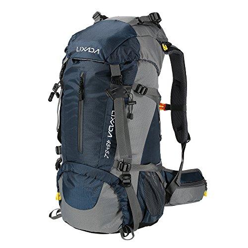 Sac à dos de randonnée Lixada 50L/60L avec housse imperméable Sac à dos trekking Camping Sport Outdoor