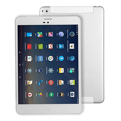 7,85 pouces Tablet PC Android 4G-LTE - Winnovo M798 M798 WiFi GPS Phablet Quad Core 16 Go ROM 1 Go de RAM RAM Carte SIM Bluetooth Double Caméra Argent Métallique