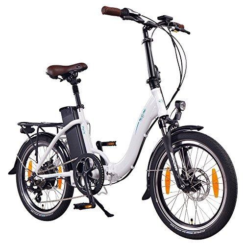 Vélo électrique pliable NCM Paris, 250W, Batterie 36V 15Ah - 540Wh (Blanc)