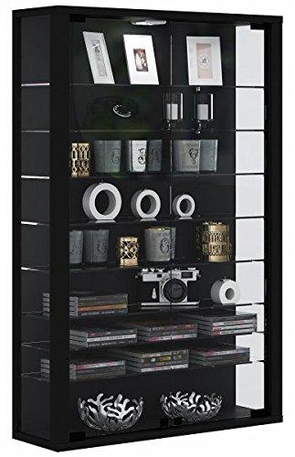 VCM Vitrina Vitrina Vitrina Wall, bois, noir, 90 x 59 x 18 cm