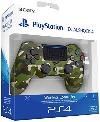 Sony - Manette sans fil Dualshock 4 V2, Camouflage vert couleur (PS4)