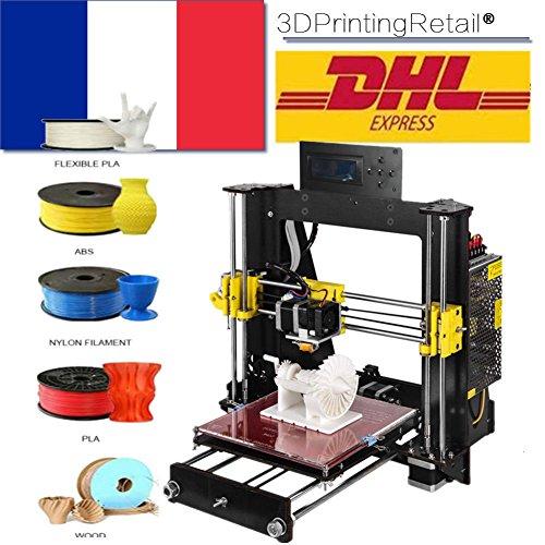 Imprimante 3D Abcs Impression A8 Prusa I3 Pro B Kit, Imprimante 3D Démontée, CNC, Support Matériel Diversité Largeur d'impression 200 * 200 *180mm