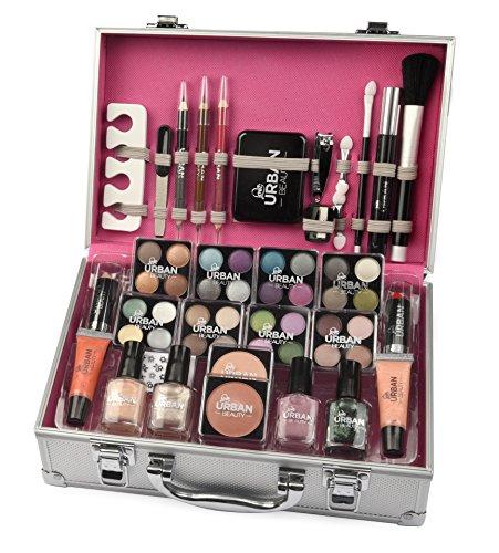 Trousse de maquillage Urban Beauty, 60 produits. Idéal pour voyager, en cadeau, pour garder le maquillage.