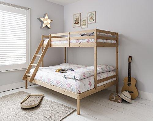 Noa & Nani lit superposé Kent à trois lits en couleur naturelle