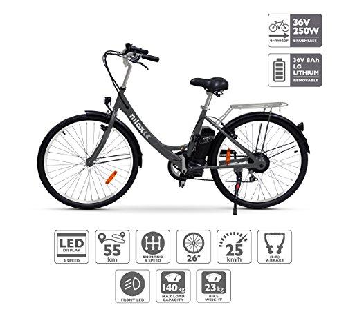 Vélo électrique Nilox X5, Unisexe Adulte, Noir, Taille Unique pour tous