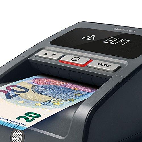 Safescan 155-S Black - Détecteur automatique de faux billets pour une vérification à 100% - Prêt pour les nouveaux billets de 100 et 200 euros