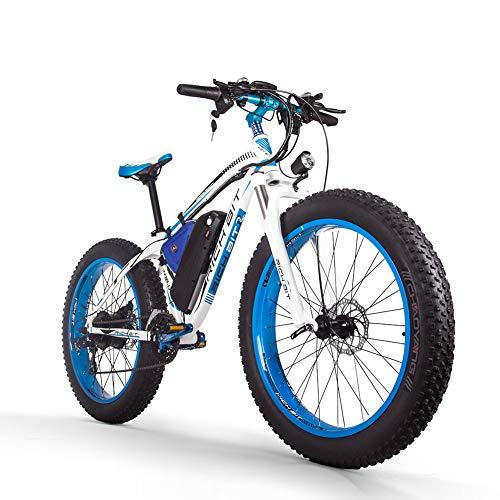 RICH BIT Vélo électrique pour hommes E-Bike Fat Snow Bike 1000W-48V-17Ah Li-battery 26 * 4.0 VTT VTT VTT Shimano Shimano 21 vitesses Freins à disque Intelligent Electric Bike
