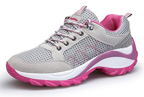 78ed602968 KOUDYEN Atlético Zapatos Chicas Mesh Zapatillas de Deporte Fitness  Plataforma para Mujer,XZ006-grey