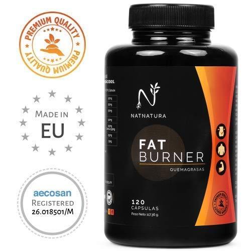 FAT BURNER #1. Puissant brûleur de graisse naturelle haute performance. Thermogénique pour perdre du poids. Supplément sportif, brûlure des graisses abdominales, coupe-faim. 120 gélules végétales à haute concentration.