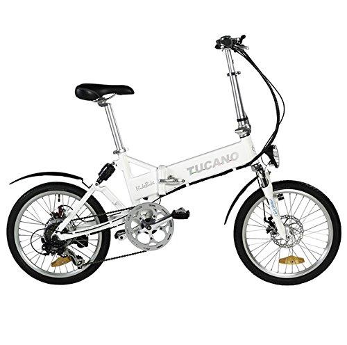 Tucano Hide Sport Vélo électrique, Unisexe Adulte, Blanc, 20 minutes